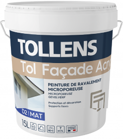 Peinture mat acrylique Bonne opacité Film mince aux résines acryliques en phase aqueuse.